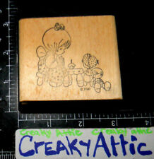 PRECIOUS MOMENTS DOLLS CUPCAKE TEA PARTY RUBBER STAMP AFFAIR PMI