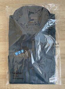 Mens Chambray Shirt Size 43 Seidensticker Splendesto Non Iron