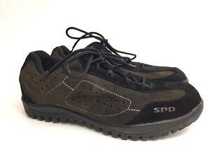 Shimano SPD SH-MT21 Black Green Bicycle Shoes Women's Size 8.5 Men's 6.5 EU 41