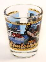 LOUISIANA STATE WRAPAROUND SHOT GLASS SHOTGLASS