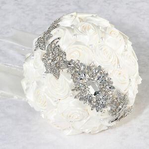 Cream Pearl and Rhinestone Wedding Bouquet