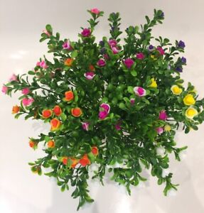 6 Bunches Of Artificial Plastic Flowers