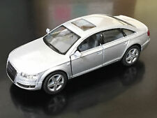 "New 5"" Kinsmart Audi A6 Diecast Model Toy Car 1:38 Scale Pull Action Silver"