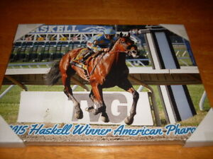 Horse Racing American Pharoah Print on Canvas 9 X 12 2015 Haskell Stakes