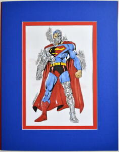 CYBORG SUPERMAN Full Color Original Art by Anthony Castillo Pro Matted
