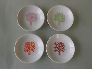 Vintage Set of 4 Four Seasons Restaurant Butter Dishes Ashtrays Excellent