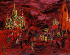 LeRoy Neiman 1977 Red Square 107 of 300 SERIGRAPH Artist Signed limited proof