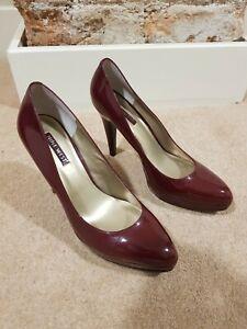 Womens Patent Nine West Stiletto / High Heel Shoes UK8 US10 Burgundy