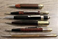 Mixed Lot 6 Vintage Mechanical Pencils Autopoint USA Bavaria Brass Scripto