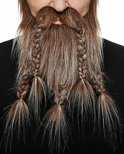 High quality Viking, dwarf fake, self adhesive beard