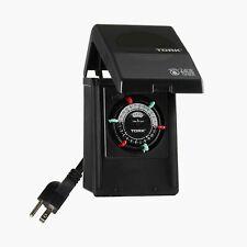 Tork Rhb32R Indoor/Outdoor 15-Amp Plug-in Heavy Duty Mechanical Timer
