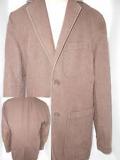 CLUB MONACO Mens Sport Coat Suit Blazer Jacket S Small Brown Elbow Leather Patch