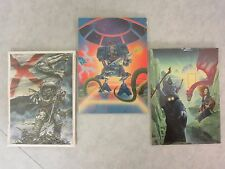 Catalan Communications Art  Richard Courtney Juan Gimenez Lot of 3 Postcard 1986