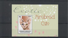 Grenadian Cats Sheet Postal Stamps