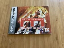 NINTENDO GAMEBOY ADVANCE ZONE OF THE ENDERS THE FIST OF MARS GBA MANUAL ONLY