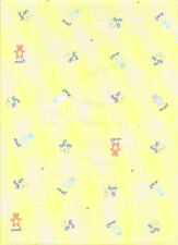 Baby print with teddy  - cotton fabric