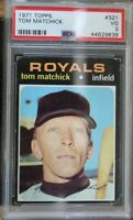 PSA Graded 3 VG 1971 Topps Tom Matchick