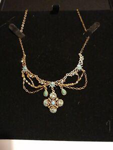 New 1928 Necklace Turquoise - Alexandria