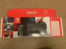 EMPTY BOX FOR NINTENDO SWITCH CONSOLE - GREY