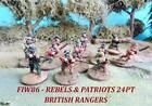 AW Minis French Indian War  Rebels & Patriots - 24 Point British Range Pack New