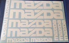 11 X MAZDA Vinyle Autocollants pour voiture et alliages, Mazda 3, Mazda 6, RX-8, MX-5 decal