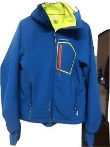 Quechua Size M Blue Zip Up Jacket With Hood