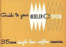 BESELER TOPCON C SLR 35mm CAMERA OWNERS INSTRUCTION MANUAL -BESELER TOPCON C