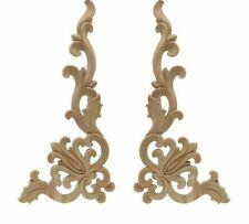 Wood Carved Corner Onlay Applique Frame Door Decorate Wall Doors Furniture Decor