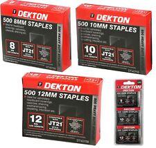 Dekton 1500 X Stapler Gun Refills 8mm,10mm & 12mm Staples Fabric Wood Tacker