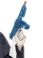Blue Tommy Gun plástico 49 cm gangsters Brazo De Juguete Con Sonido Vestido de fantasía