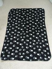 Small Black Soft Fleece Pet Blanket from Pet Essentials