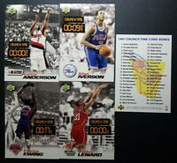 1997 Basketball Card Upper Deck Nestle Crunch Time IVERSON EWING LOT OF 4