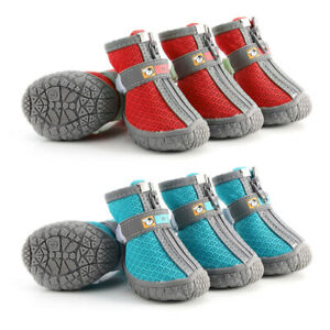 Pet Dog Boots Waterproof Shoes with Reflective Soft Mesh for Small Medium Dogs