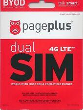 Page Plus 4G Lte Dual Micro/Standard Sim Card W/1st month of service $39.95 Plan
