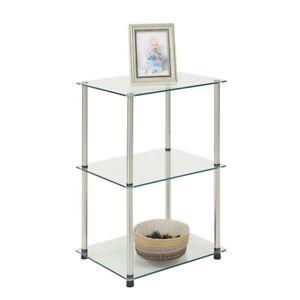 Convenience Concepts Designs2Go 3 Tier Lamp/End Table, Glass - 157003