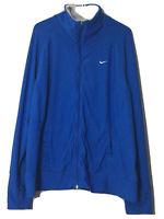 Nike Dri-Fit Women's Full Zip Training Jacket Blue Long Sleeve Size 1X Pockets