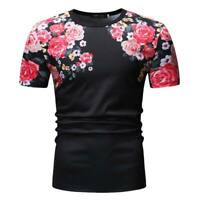 Muscle tee men's tops slim fit blouse short sleeve summer t shirt t shirts