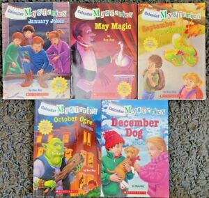 A to Z Calendar Series by Ron Roy 5 Chapter Book Lot Paperback Scholastic