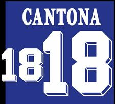 Cantona #18 France Euro 1992 Home Football Nameset for shirt