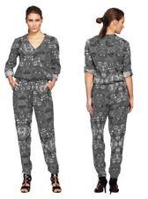 Damen-Overalls mit V-Ausschnitt aus Viskose in Größe 40