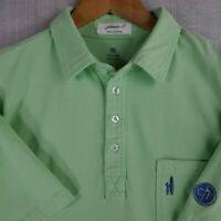 JOHNNIE-O x CONWAY FARMS Medium Cotton Green Short Sleeve Golf Polo Shirt Mens