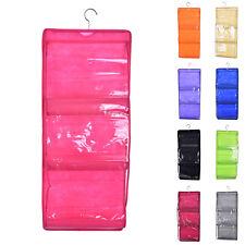 6 Pocket Hanging Handbag Purse Bag Organiser Storage Wardrobe Closet Hanger