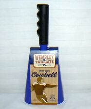 Wembley TailGate Game Time CowBell New Blue Fanatic Fan Noise Hand Held Spirit