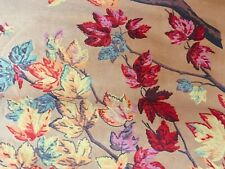 "Vintage Halloween Crepe Paper Roll 34"" L Panel Fall Leaves"