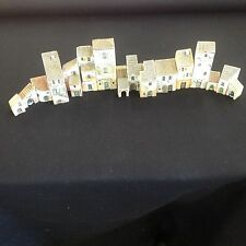 Gualt Hand Made in France Miniature Ceramic Buildings Set of 18