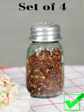Lot SET OF 4 Mini MASON JAR SPICE SHAKERS spice holder spice rack jar