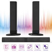 Wireless TV Sound Bar Subwoofer 3D Home Theater Soundbar Bluetooth 4.2 Speakers