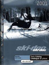 2001 SKI-DOO SNOWMOBILE SKANDIC 500 F & 600 PARTS MANUAL P/N 484 400 093  (200)