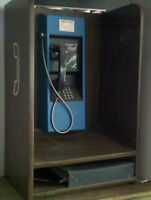 VINTAGE TELEPHONE  WALL PAY PHONE NJ BELL + WALL ENCLOSURE RENTED!!!