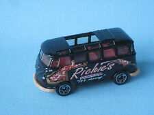 Matchbox Volkswagon VW Transporter Black Body Ritchies Pizza Toy Model Car in BP